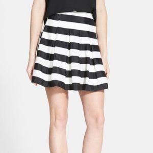 HOST PICK NWT Black & White Striped Pleated Skirt